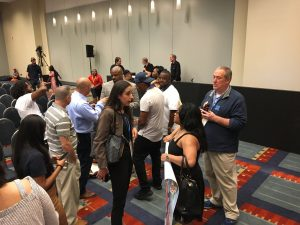 A picture of Josh Hoe after the Smart Justice Panel during the 2018 ACLU Membership Conference