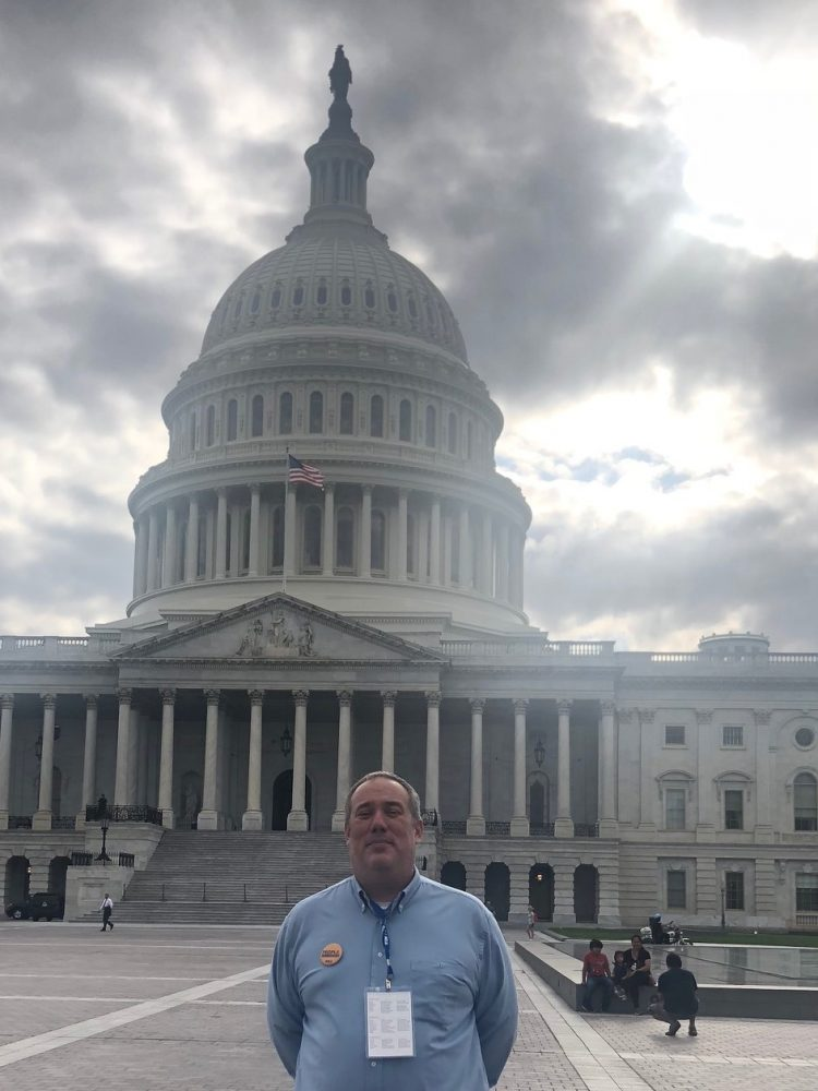 a picture of Josh at the Capital during the ACLU Conference