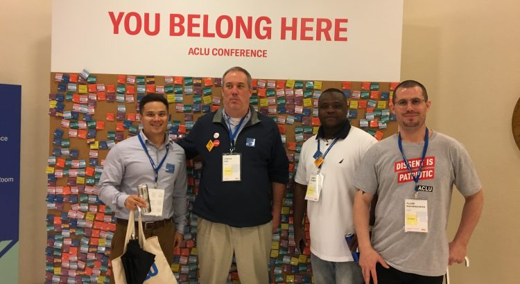 Josh and Friends at the 2018 ACLU membership conference