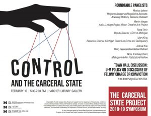 Flyer for the Carceral State Porject symposium on control and the carceral state