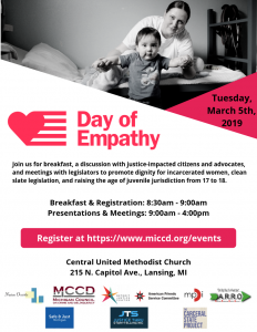 Flyer for the Day of Empathy Event in Michigan