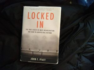 "Picture of the book ""Locked In: The True Causes of Mass Incarceration and How To Achieve Real Reform"" by John Pfaff"