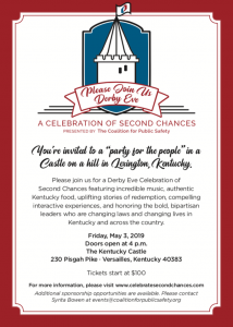 Flyer for the Celebration of Second Chances Event in Kentucky