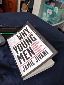 "A picture of the book ""Why Young Men"" by Jamil Jivani"