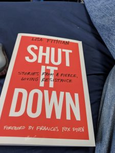 a picture of the cover of Lisa Fithian's book Shut It Down