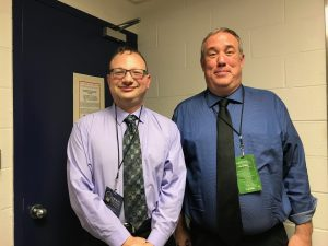 A picture of Josh Hoe and Marc Levin after their interview for the Decarceration Nation Podcast at the Smart on Crime Innovations Conference in New York City