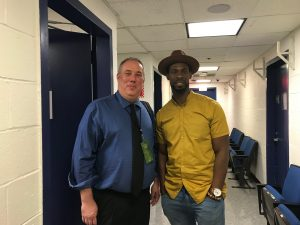 A picture of Josh Hoe, host of the Decarceration Nation Podcast, and Marlon Peterson, host of the DEcarcerated podcast at the Smart on Crime Innovations Conference in New York City