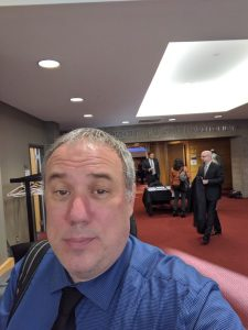 A pocture of Josh Hoe at the Detroit meeting of the Michigan Joint task Force on Jails and Pretrial Incarceration