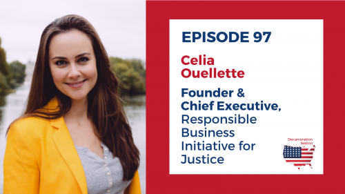 A picture of Celia Ouellette, Josh's guest for episode 97 of the Decarceration Nation Podcast
