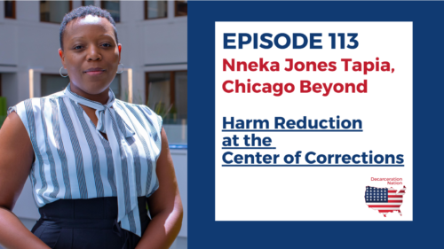 A picture of Dr. Nneka Jones Tapia, Josh's guest for Episode 113 of the Decarceration Nation Podcast
